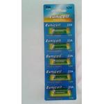 EUNICELL - 5 piles 23A A23 LRV08 L1028 RVO8 23A MS21 MN21 E23A - 12 volts