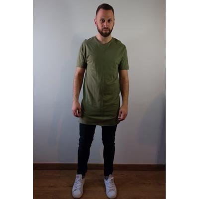 T-shirt long kaki TopMan - Taille S