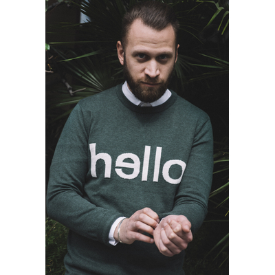 "Pull ""Hello"" Jules - Taille M"