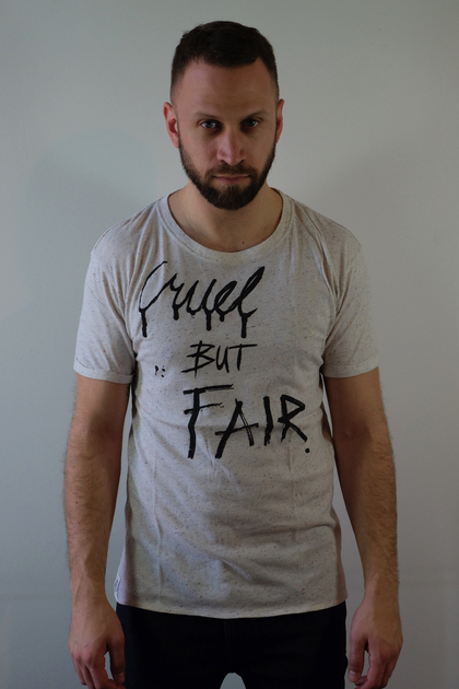 T-shirt-cruel-but-fair-worn-by-3