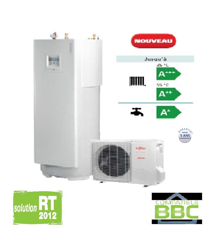 pompe a chaleur air eau split atlantic loria duo 6006 chauffage eau chaude 6 kw rt2012 pac. Black Bedroom Furniture Sets. Home Design Ideas