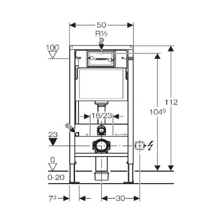 pack complet wc suspendu bati geberit autoportant plaque delta blanche cuvette volta. Black Bedroom Furniture Sets. Home Design Ideas
