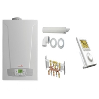 PACK CHAUDIERE GAZ COMPLETE CHAPPEE INITIA + 24KW 2.24 HTE MICRO ACCUMULATION CONDENSATION + DOSSERET + VENTOUSE + ROSACE + THERMOSTAT