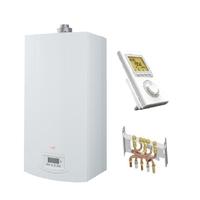PACK CHAUDIERE GAZ MURALE CHAPPEE LUNA ST+ FLIRT 2.24 CF + DOSSERET + THERMOSTAT sanitaire et chauffage