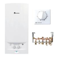 PACK CHAUDIERE COMPLETE ACLEIS GAZ NATUREL 24 kW Basse température cheminée + DOSSERET + THERMOSTAT