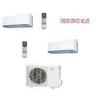 Pack climatisation BI SPLIT atlantic inverter AOYG 14 LAC2 pour 2 pièces de 20 m2 maxi MISE EN SERVICE INCLUSE