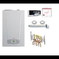 Chaudière Gaz Condensation Initia + Duo Chappée 3.25 25 kW Complète (Ventouse + Douilles + Dosseret) thermostat emolife connecté
