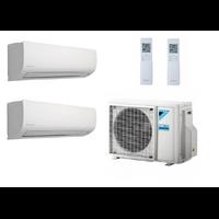 CLIMATISATION DAIKIN BI SPLIT 6800W MXS68 + 1 UNITE INTERIEURE 4200W + 1 UNITE INTERIEURE 3500W