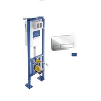 Villeroy & Boch ViConnect - Bâti-support pour WC suspendu 112 cm autoportant + plaque chrome viconnect