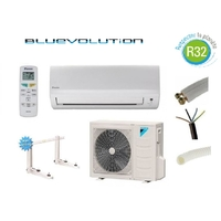 PRET A POSER CLIMATISATION DAIKIN 3500W R32 BLUEVOLUTION REVERSIBLE FTXF35A + KIT DE POSE 15 METRES + SUPPORT MURAL