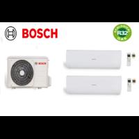 Pack climatisation unité extérieure bi split BOSCH 8kw + 1 unité intérieure 5,3kw + 1 unité intérieure 3,5kw R32
