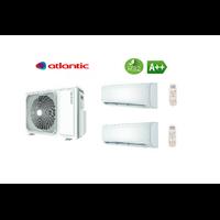 Pack climatisation bi split ATLANTIC 4,8 KW + 2 unités intérieures réversibles 2,6 kW DOJO R32