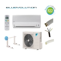 PRET A POSER CLIMATISATION DAIKIN 5000W R32 BLUEVOLUTION REVERSIBLE FTXF50A + KIT DE POSE 15 METRES + SUPPORT MURAL