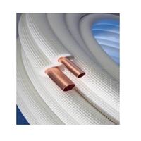LIAISON FRIGORIFIQUE CLIMATISATION CUIVRE BI TUBE NUE 1/4 1/2 M1 EN 15 METRES