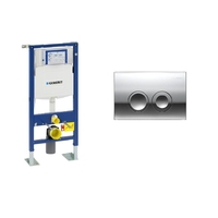 BATI SUPPORT GEBERIT AUTOPORTANT COMPLET + PLAQUE DELTA CHROME