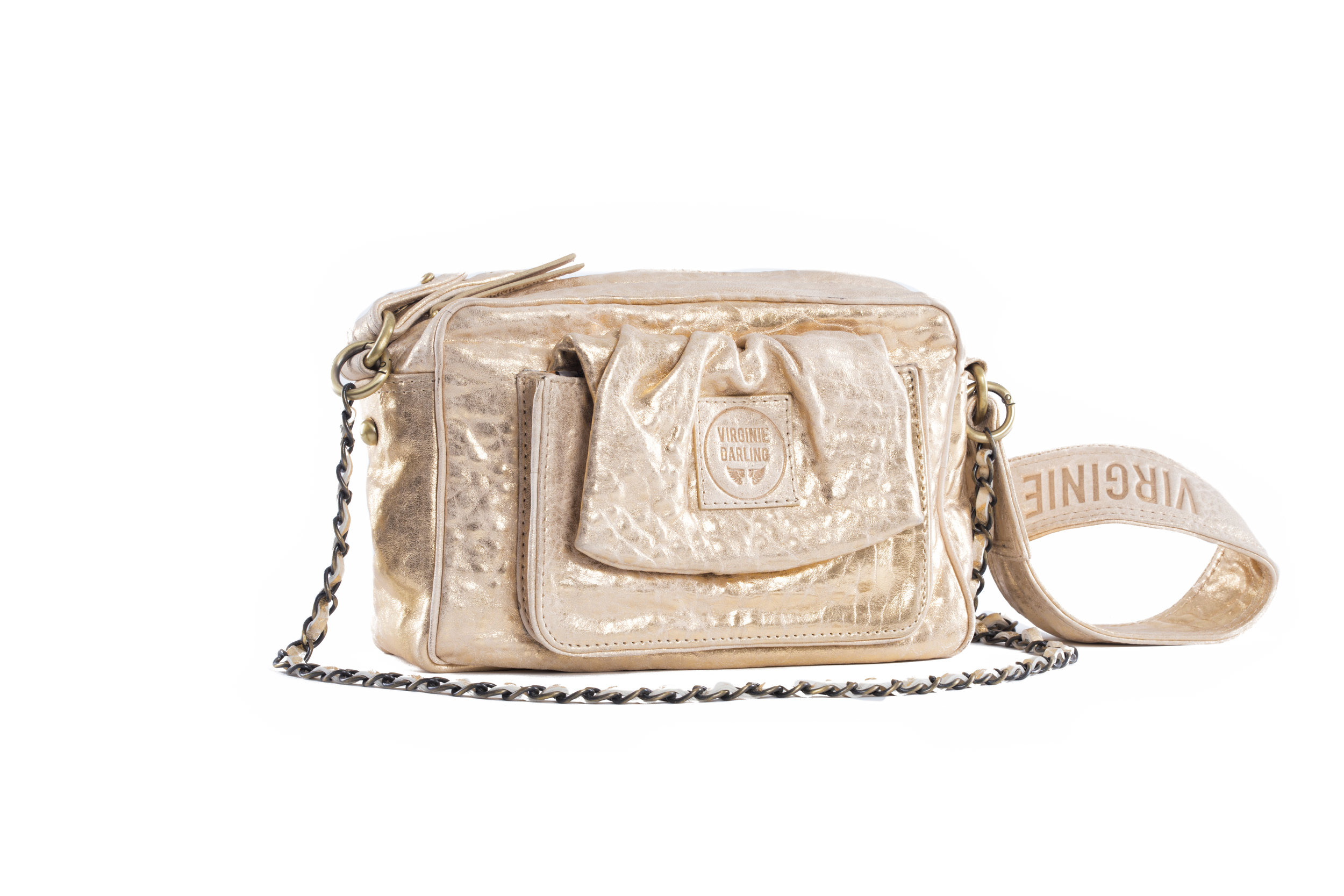 SAC CAMERA LOVE BUBBLE WHITE OR - Nouvelle collection