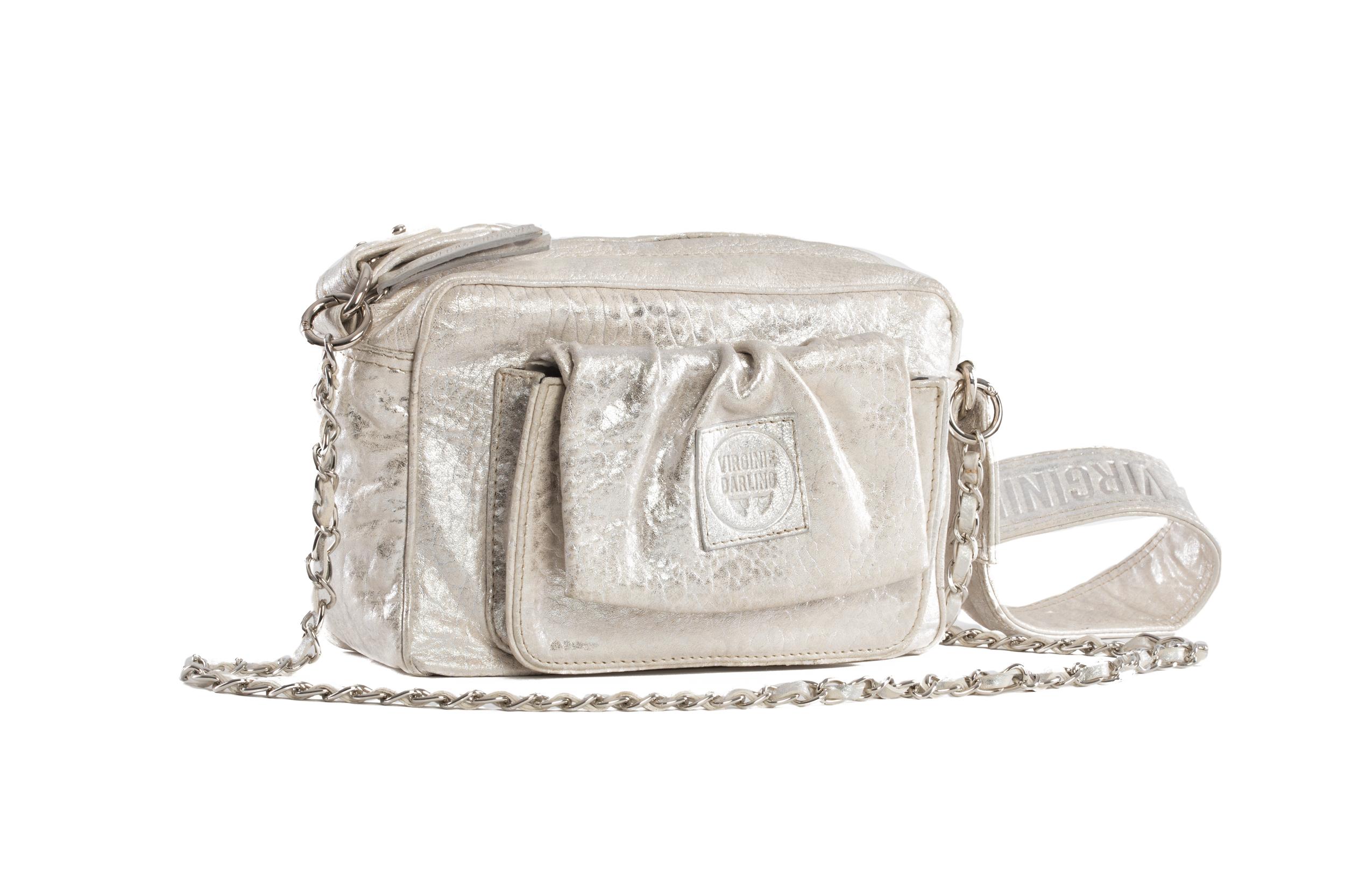 SAC CAMERA LOVE BUBBLE WHITE ARGENT - Nouvelle collection