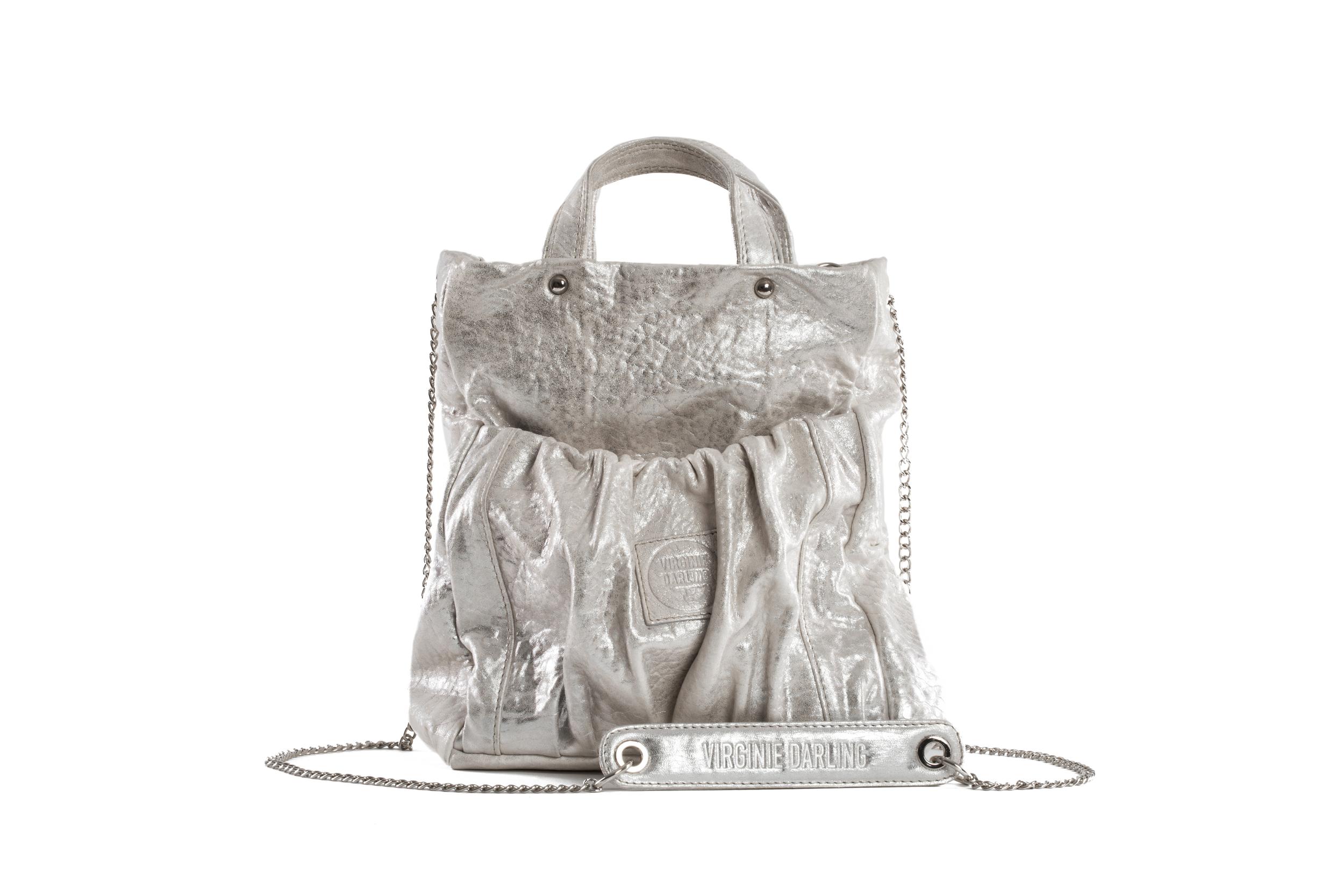 MINI BAG REGINA BUBBLE WHITE ARGENT - Nouvelle Collection