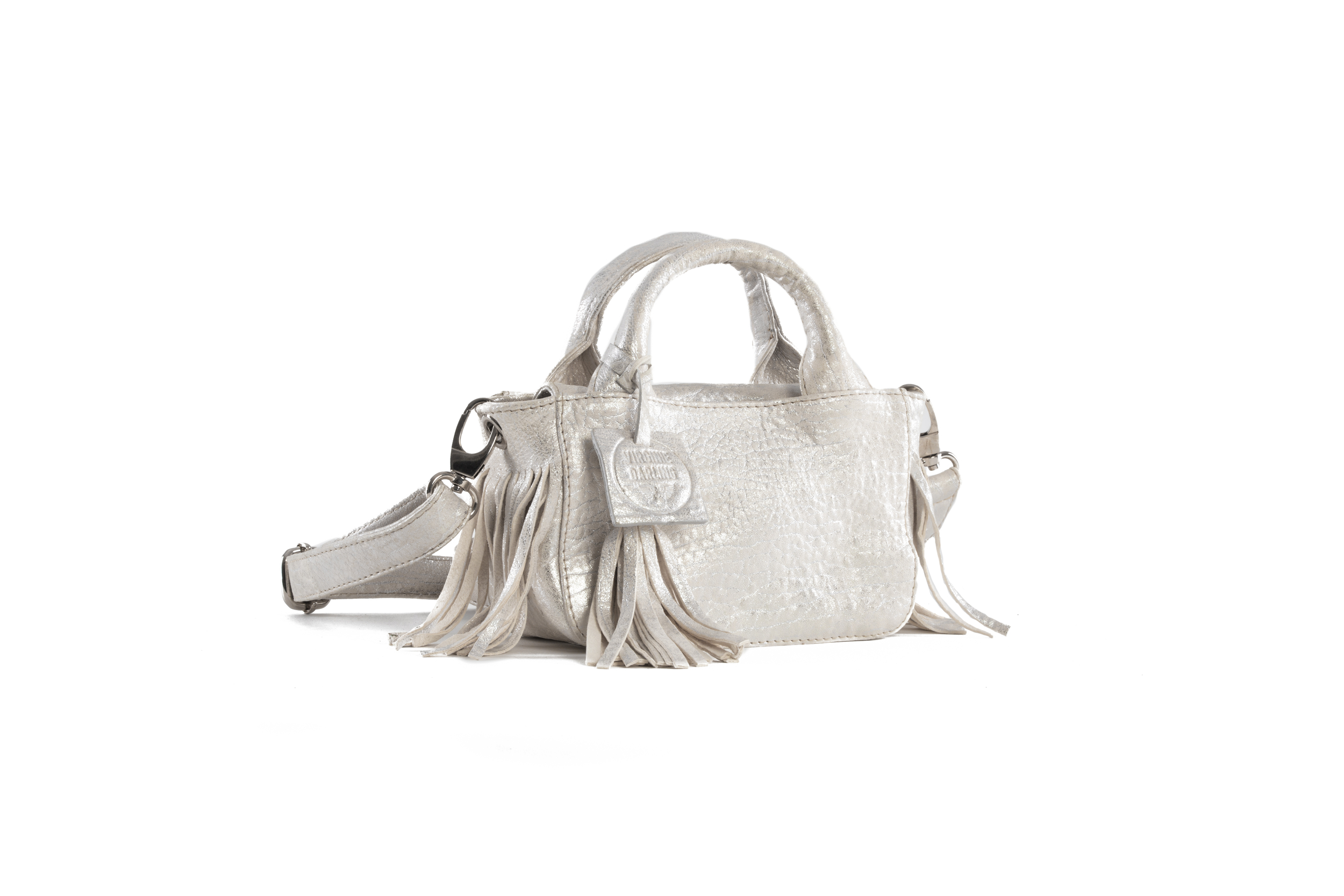 SAC MINI BABY DARLING BUBBLE WHITE ARGENT - Nouvelle Collection