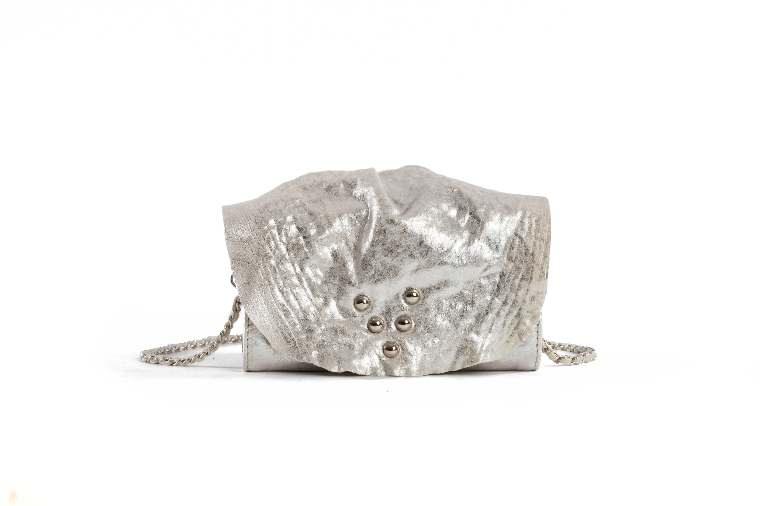 SAC MICRO WILD BUBBLE WHITE ARGENT - Nouvelle Collection