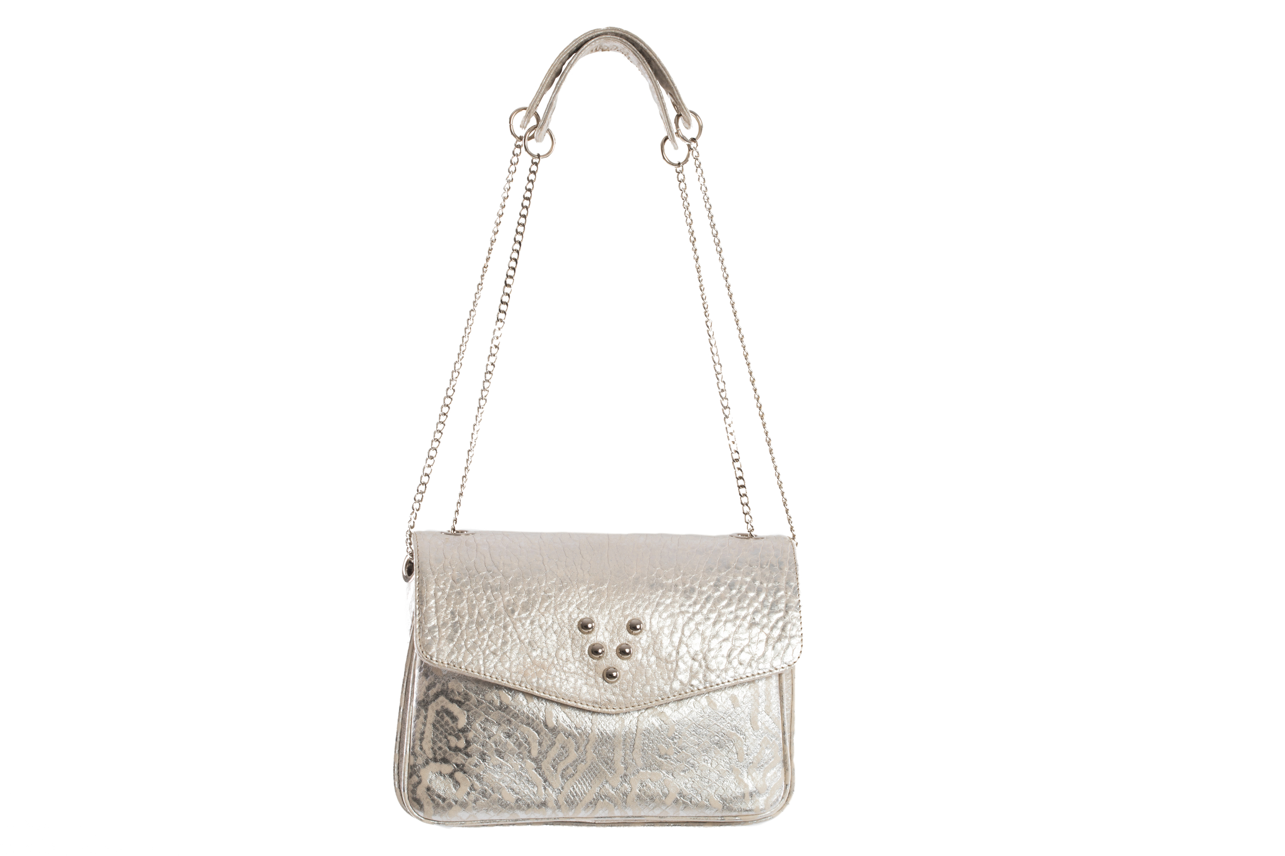 SAC CHACHA WHITE ARGENT MIX - Nouvelle Collection