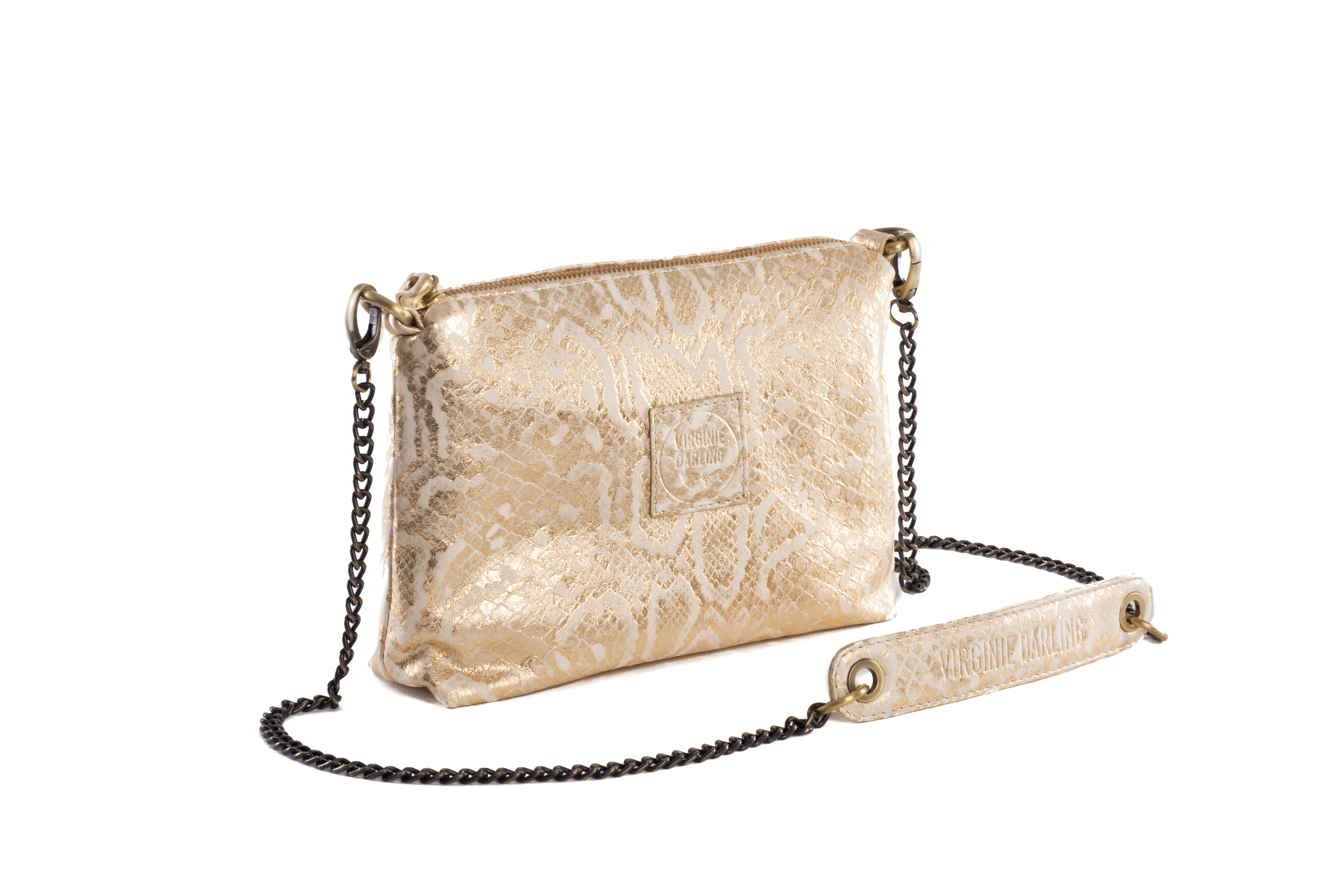 POCHETTE CHACHA PYTHON OR - Nouvelle Collection