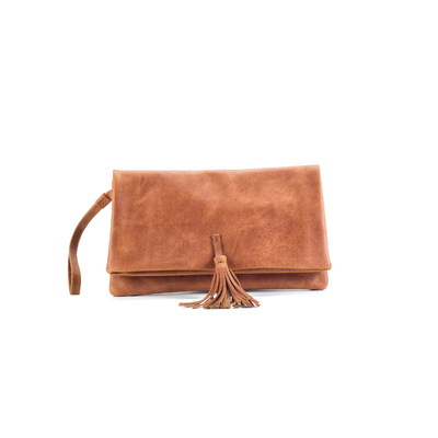 CLUTCH ELENA MEDIUM CUIR NATUREL