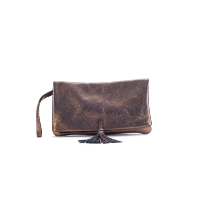 CLUTCH ELENA MEDIUM FANCY BRONZE