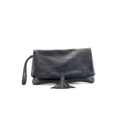 CLUTCH ELENA MEDIUM BLACK ROCK'NROLL
