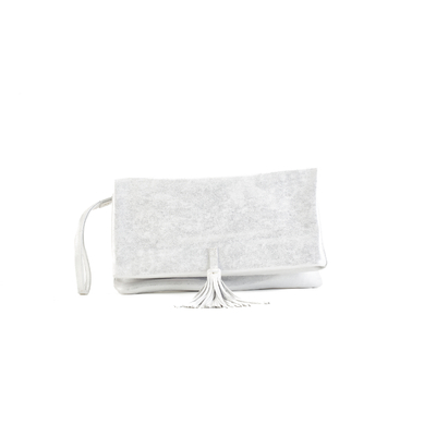 CLUTCH ELENA MEDIUM CLOUDY SILVER