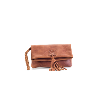 CLUTCH ELENA BELDI CHIC CUIR NATUREL