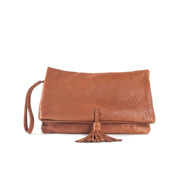 CLUTCH ELENA MEDIUM BUBBLE HONEY - Nouvelle Collection