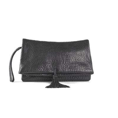 CLUTCH ELENA MEDIUM BUBBLE BLACK - Nouvelle Collection