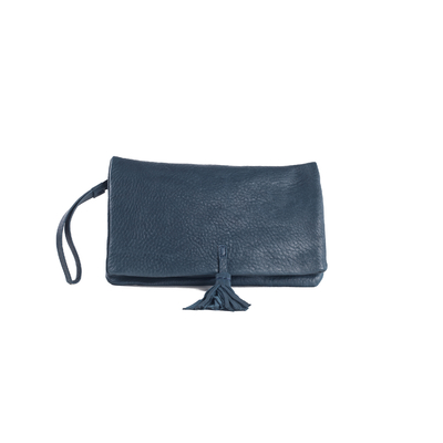 CLUTCH ELENA MEDIUM BUBBLE BLEU PÉTROLE - Nouvelle Collection