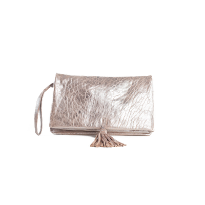 CLUTCH ELENA MEDIUM BUBBLE SILVER - Nouvelle Collection