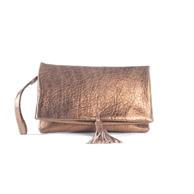 CLUTCH ELENA MEDIUM BUBBLE BRONZE
