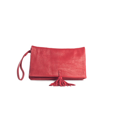 CLUTCH ELENA MEDIUM BUBBLE ROUGE - Nouvelle Collection