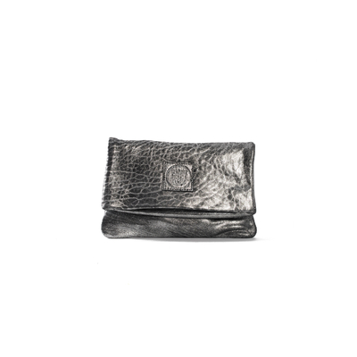 CLUTCH ELENA SMALL BUBBLE ARGENT - Nouvelle Collection