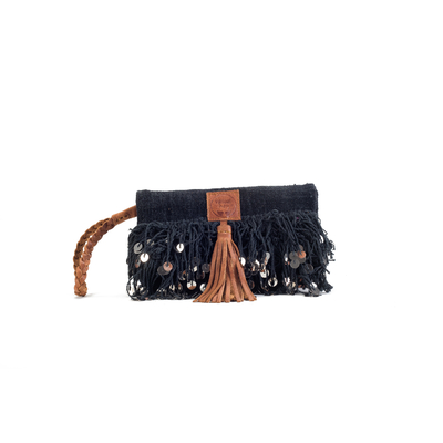 CLUTCH ELENA  BLACK VELVET ÉDITION LUXE