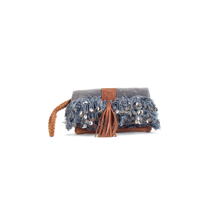 CLUTCH ELENA GREY VELVET ÉDITION LUXE
