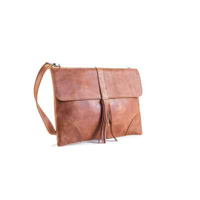 POCHETTE D'ORDINATEUR WORKING EMMA CUIR NATUREL