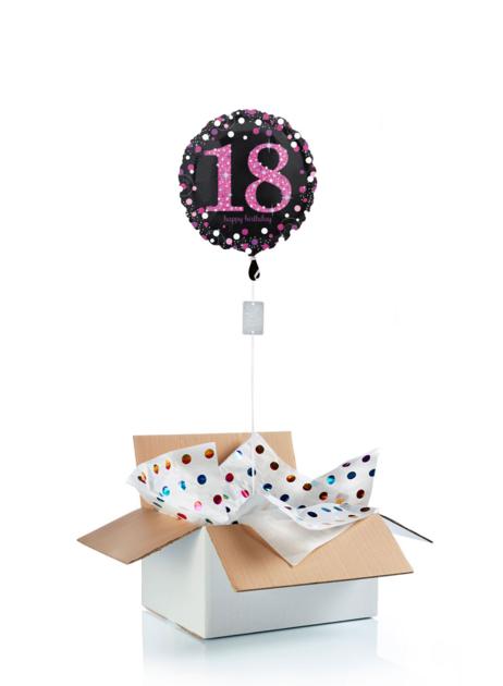 Ballon d\'anniversaire gonflé à l\'helium 18 ans Happy Birthday