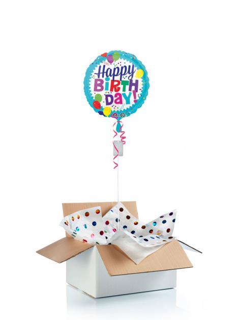 Ballon d\'anniversaire gonflé à l\'helium : ballons