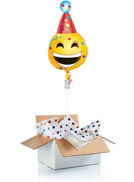 Ballon surprise gonflé à l\'helium c\'est la fête