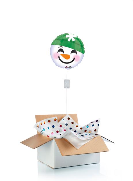 Ballon surprise de Noël - Emoji bonhomme de neige