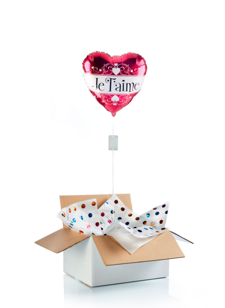 Ballon surprise cœur Je t\'aime