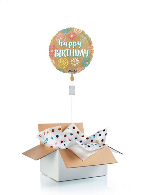 Ballon surprise d\'anniversaire happy birthday feu d\'artifice