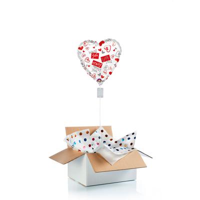 """Ballon surprise cœur """"I love you"""""""