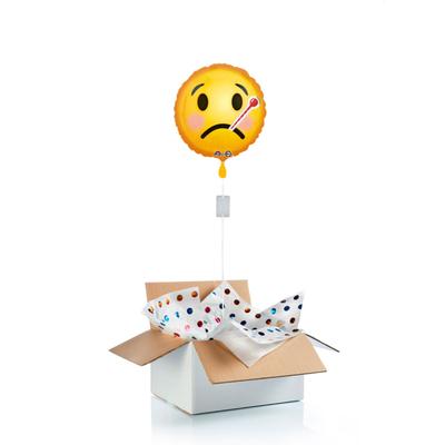 """Ballon surprise emoji """"bon rétablissement"""""""