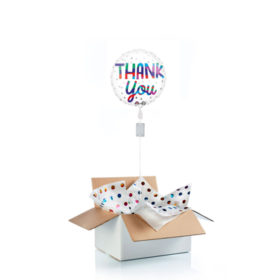 "Ballon surprise de remerciement ""thank you"""